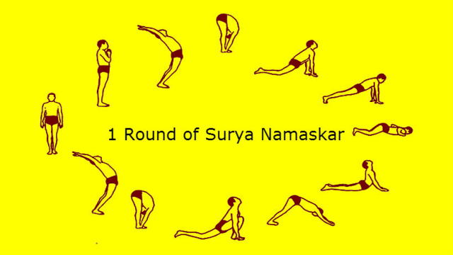 how to do surya namaskar